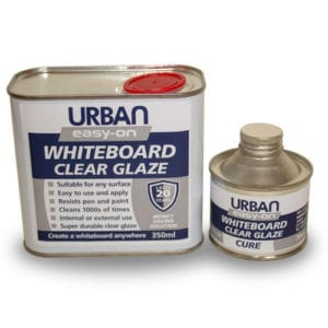 Easy-on whiteboard glaze