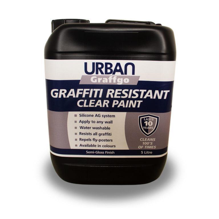 Clear Graffiti Resistant Paint