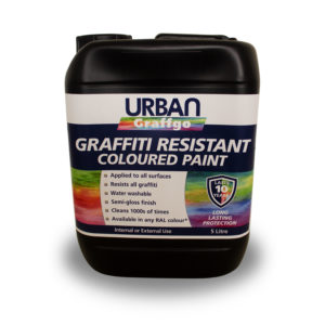 Coloured Graffiti Resistant Paint