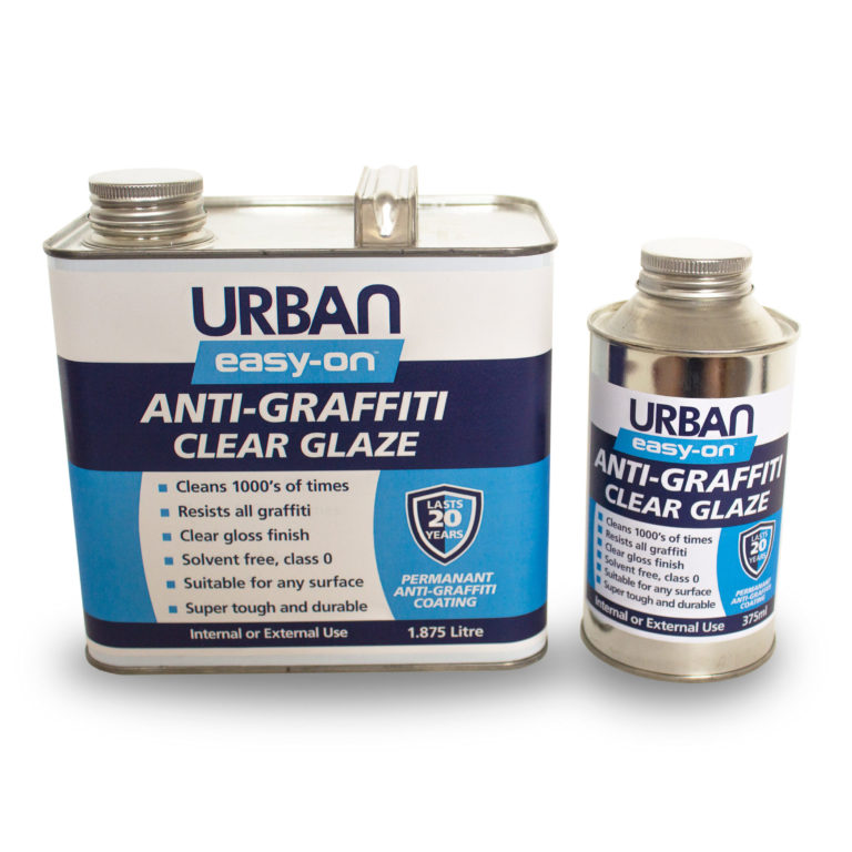 Anti-Graffiti Coating easy-on Clear Glaze