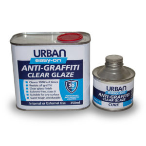 Anti-Graffiti Coating easy-on Clear Glaze