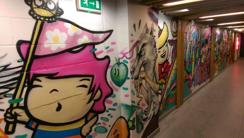 Graffiti style mural