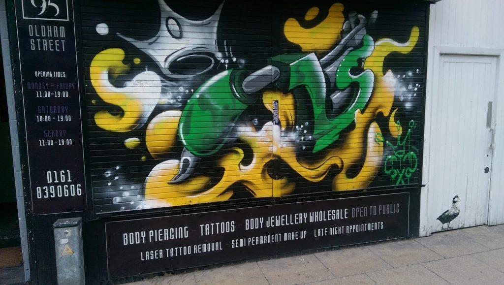 Roller Shutter graffitied
