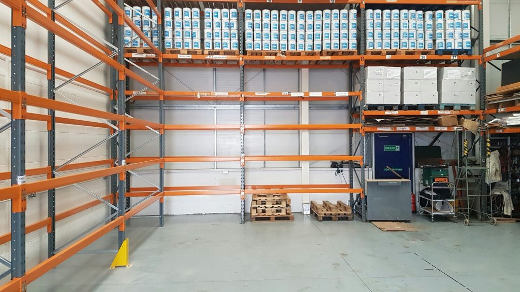 Anti-graffiti coatings and graffiti removers on racking