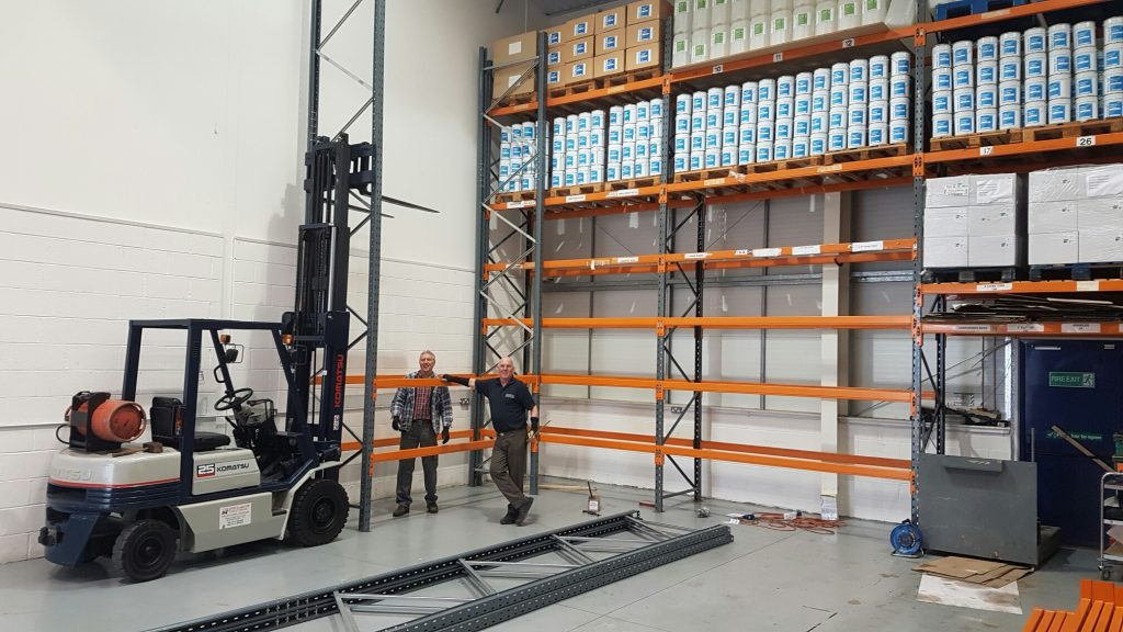 Urban Hygiene's new pallet racking goes in